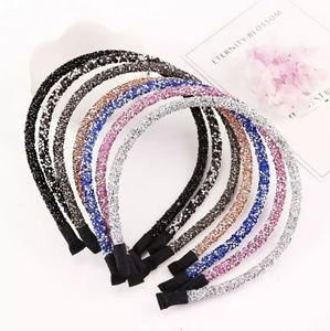 Other - Blue Glitter Shimmer Crystal Girls Headbands